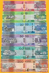 Gambia Full Set 5 10 20 50 100 200 Dalasis p-new 2019 UNC Banknotes