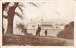 R141829 Greenwich College from Park. F. O. Scott. Carbon Gloss Series. 1918 GBP 6.75