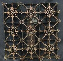 COPPER TJAP CAP CHOP STAMP STAR GRID 7 1 2quot; x 7 1 2quot; BATIK INDONESIA ART BLOCK $99.75