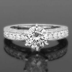 APPRAISED ORNAMENTED ROUND BRILLIANT DIAMOND RING 2.55 CT 18 KT WHITE GOLD