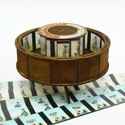 Praxinoscope. Optical antique toy with set of 10 animation strips $64.95