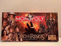 Monopoly The Lord Of The Rings Collector's Edition 2005 Hasbro COMPLETE Rare