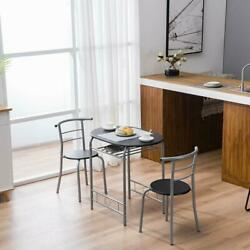 3 PCS Bistro Dining Set Table and 2 Chairs Home Kitchen Breakfast Pub Furniture $99.99