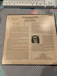 Vintage Hand Signed by ISAAC ASIMOV -record cover of THE MAYORS (from Foundation