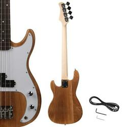 New Natural Wood Beginner Practice School Student Band Electric 4 Strings Bass