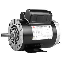 3 HP 3450 RPM Electric Motor Compressor Duty 56 Frame 1 Phase 5/8