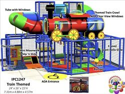 Commercial Indoor Outdoor Train Themed Soft Play Playground Structure IPC1247  $8,000.00
