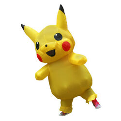 Inflatable Costume Pikachu Mascot Clothing Adult Costum 150-190CM US delivery