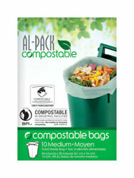 Al Pack Compostable 13 gal. Compost Bags Flat Top 10 pk $14.49