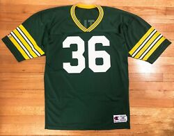 Champion Green Bay Packers Men's Size 46 Mesh Jersey #36 LeRoy Butler Vintage