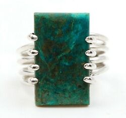 Must Have Natural Azurite 925 Solid Sterling Silver Ring Jewelry Sz 6 C23-2