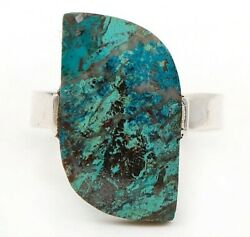 Natural Azurite 925 Solid Sterling Silver Ring Jewelry Sz 7 C23-4