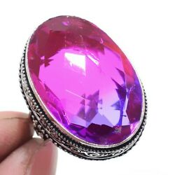Bi-Color Tourmaline 925 Sterling Silver Jewelry Ring Size-8.75 8894