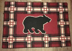 Cabin Rustic Bedroom Decir Red Plaid $39.95