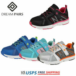 DREAM PAIRS Kids Boy Girl Fashion Sneakers Mesh Upper Outdoor Indoor Sport Shoes $10.79