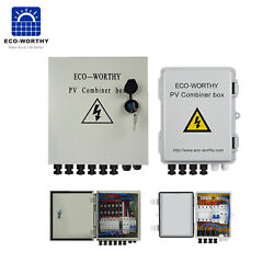 46 String PV Combiner Box 12A Circuit Breakers Easy Wiring For Solar Panel Kit $129.00