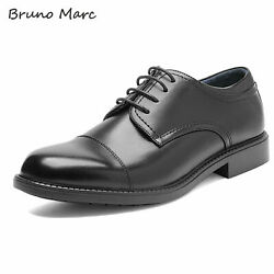 Bruno Marc Mens Formal Dress Shoes Leather Lined Plain Toe Lace Up Oxford Shoes $26.59