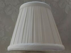 Pleated Empire Chandelier Lamp Shade Clip On 3.5 Top 5.5 Tall 6quot; Bottom NEW $5.95