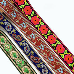 2yd Flower Floral Embroidery Trim Lace Ribbon Ethnic Boho DIY Sewing Accessories $2.90