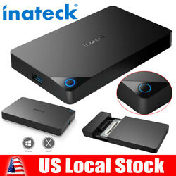 Inateck USB 3.0 2.5quot; External HDD SSD Enclosure Hard Drive Case SATA 3.0 UASP $10.99
