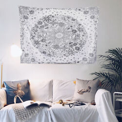 Large Wall Hanging Tapestry Mandala Daisy Floral Beach Towel Boho Bedroom Decor $15.69
