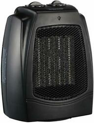 Portable Ceramic Space Heater - 1500W Electric Heater with Adjustable Thermostat