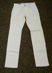 NEW Goodfellow & Co Pants Beige Slim Chino Stretch Men Size 32 X 34