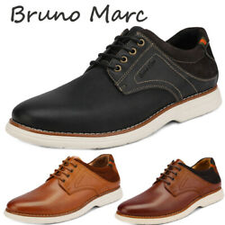Bruno Marc Men Genuine Leather Oxford Lace Up Sneakers Casual Wingtip Dress Shoe $20.00
