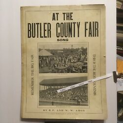 1911 At The Butler PA. County Fair Song Souvenir Midway Grand Stand Races Photos