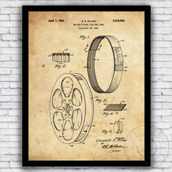 Film Reel Band Motion Picture Cinema Patent Art Print Size and Frame Options $21.76