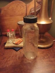 EVENFLO Baby Glass Bottle With Cap 8oz. USA 240 Centimeters Vintage $6.25