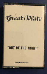 """Great White """"Out Of The Night"""" EP Cassette Aegean Records RARE"""