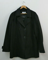 Calvin Klein Peacoat Size L Heather Gray WoolPoly Blend