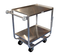 Win-Holt Equipment Group UC-2-2149SS Metal Bussing Utility Transport Cart