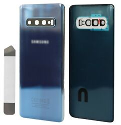 Replacement Glass Back Cover for Samsung Galaxy S10 G973 Blue w Repair Kit $9.25