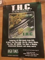 High Times THC Promo Poster Hip Hop Rap 90s MF DOOM RZA Cypress Hill Cannabis DJ