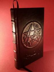 Leather Bound - NECRONOMICON - HP Lovecraft - Occult Grimoire Crowley LaVey