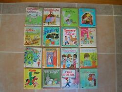 16 Vintage Whitman A Tell A Tale Children's Hardcover Book LOT Peppermint Bingo