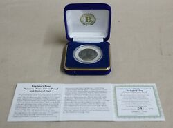 England's Rose Princess Diana 1oz Silver Proof Coin with Mother of Pearl 1 Crown $65.00