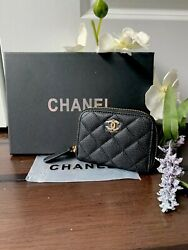 Chanel Black Caviar Wallet Card Holder VIP Gift limited