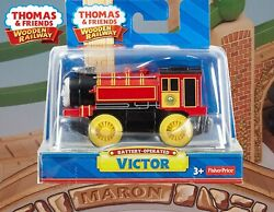BATTERY OPERATED VICTOR THOMAS amp; FRIENDS WOODEN RAILWAY NEW IN BOX RETIRED $69.99