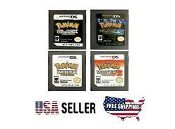 Pokemon Black Black 2 White White 2 For 3DS USA English Version