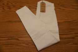 NWT WOMEN'S LUCKY BRAND JEANS Multiple Sizes Ava Crop Mid Rise White $99