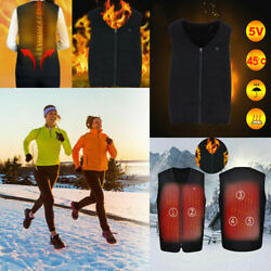 Electric USB Heated Vest Jacket Coat Winter Body Warmer Vest Pad Men Women US