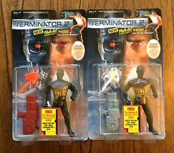 White Hot T-1000 Vintage Kenner Terminator 2 Figures Lot MOC New 1991 Orange