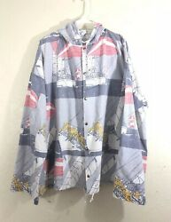 Michigan Rag Co. Canvas Jacket Vintage USA Made LXL Beach 1980s 90s Sail Boats
