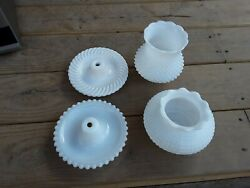 Lot Of Milk 4 Glass Lamp Parts $23.99