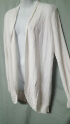 A New Day White Cardigan Sweater Jacket Lightweight Ribbed Size 2XL 46