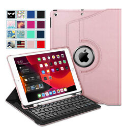 360 Degree Rotating Keyboard Case with Pencil Holder for iPad 8th Gen 10.2quot; 2020 $28.49