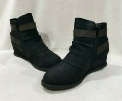 SO Women's Garlic Black Ankle Boots - Sizes 77.588.599.5 NWB